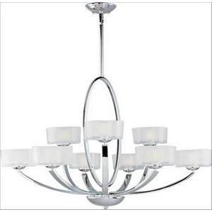 Elle-Nine Light 2-Tier Chandelier in Contemporary style-37 Inches wide by 26 inches high