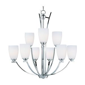 Rocco-Nine Light 2-Tier Chandelier in Modern style-32 Inches wide by 32 inches high