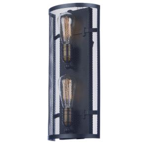 Palladium-Two Light Light Wall Sconce-7.75 Inches wide by 18 inches high