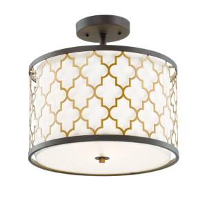 Crest-Three Light Semi-Flush Mount-16 Inches wide by 15 inches high