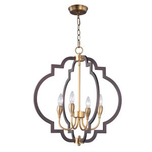 Crest-Four Light Chandelier-22.25 Inches wide by 24.25 inches high