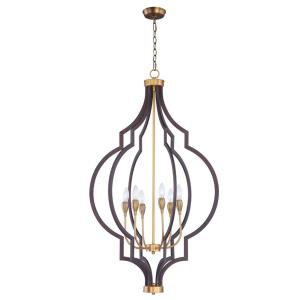Crest-Six Light Chandelier-26 Inches wide by 45.25 inches high