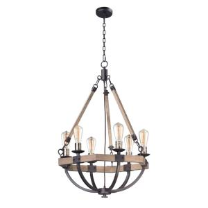 Lodge - 6 Light Chandelier 24 Inches Wide and 34 Inches Tall