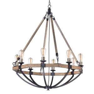Lodge-8 Light Chandelier-38 Inches wide by 43.75 inches high