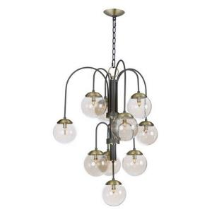 """Reverb - 30"""" Ten Light Pendant with Xenon Bulb Included"""