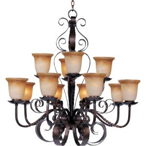 Aspen - Twelve Light 2-Tier Chandelier