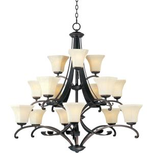 Oak Harbor-Fifteen Light 3-Tier Chandelier in Transitional style-44 Inches wide by 42 inches high