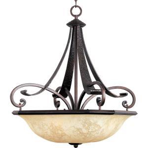Oak Harbor - Four Light Invert Bowl Pendant