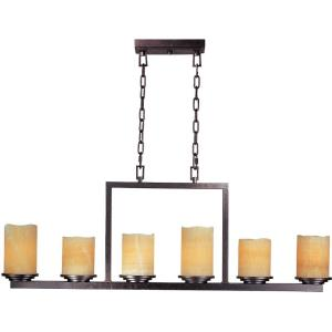 Luminous-6 Light Chandelier in Transitional style-5 Inches wide by 17 inches high