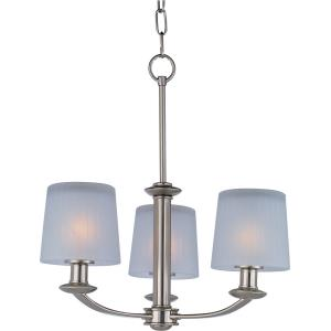 Finesse-Three Light Chandelier in Transitional style-18.5 Inches wide by 19.75 inches high