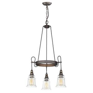Revival-Three Light Chandelier-22.75 Inches wide by 31.75 inches high