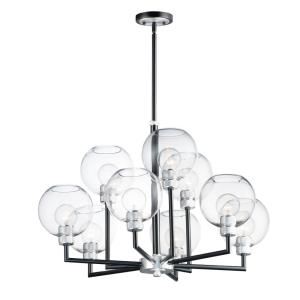 Vessel-Nine Light 2-Tier Chandelier-31 Inches wide by 22 inches high