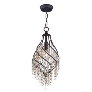 Twirl - 1 Light Pendant in Other/Builder/Commodity style - 7.5 Inches wide by 17.5 inches high