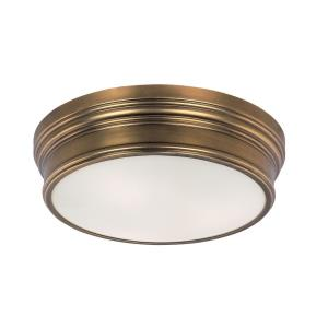 Fairmont-Three Light Flush Mount in Rustic style-16 Inches wide by 5 inches high