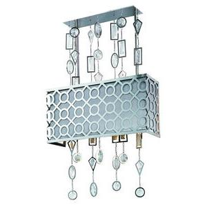 Symmetry-Three Light Pendant in Modern style-16 Inches wide by 26.5 inches high