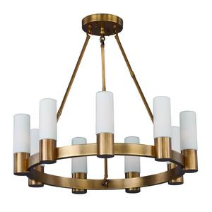 Contessa-Nine Light Chandelier in European style-27 Inches wide by 24 inches high