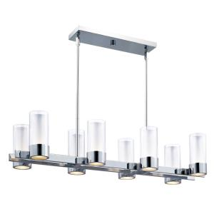 Silo-16W 8 LED Linear Pendant in Modern style-11 Inches wide by 7 inches high