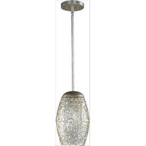 Arabesque-One Light Mini Pendant in Crystal style-6.5 Inches wide by 11 inches high