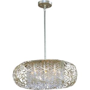 Arabesque-Nine Light Pendant in Crystal style-24 Inches wide by 12 inches high