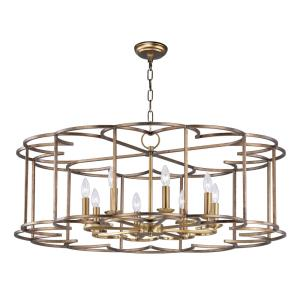 Helix-Eight Light Chandelier-38 Inches wide by 14.5 inches high