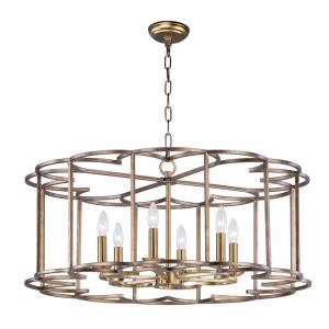 Helix - 31.50 Inch Six Light Chandelier