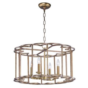 Helix-Four Light Chandelier-24 Inches wide by 14.5 inches high