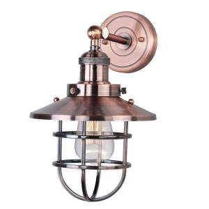"""Mini Hi-Bay - 8"""" One Light Wall Sconce with Bulb Included"""