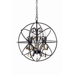 Orbit - 4 Light Chandelier - 19 Inches wide by 21.5 inches high