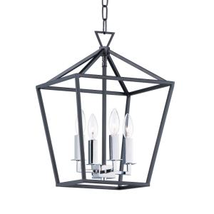 Abode-Four Light Chandelier-12 Inches wide by 18 inches high