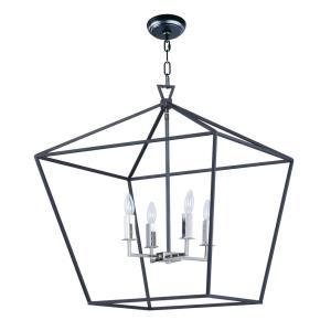 Abode - 24.5 Inch Four Light Chandelier