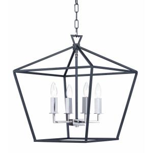 Abode-Four Light Chandelier-17.75 Inches wide by 20.75 inches high