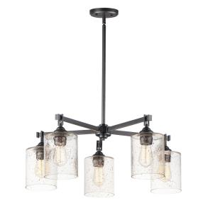 Stonehenge-5 Light Chandelier-29.5 Inches wide by 11.25 inches high