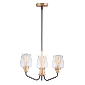Goblet-3 Light Mini Chandelier-19 Inches wide by 12 inches high