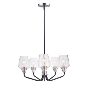 Goblet - 5 Light Chandelier in Early American style - 23 Inches wide by 12.25 inches high