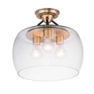 Goblet-3 Light Semi-Flush Mount-13.5 Inches wide by 13 inches high