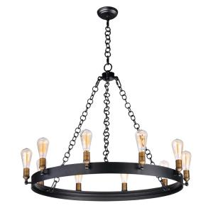 Noble-Ten Light Chandelier-37.5 Inches wide by 28 inches high
