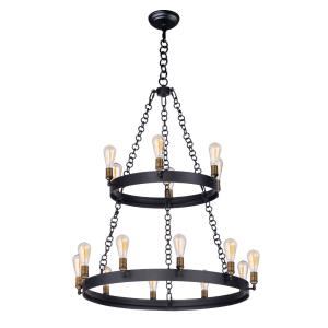 Noble-Sixteen Light 2-Tier Chandelier-37.5 Inches wide by 45.5 inches high
