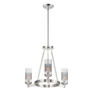 Crescendo-3 Light Mini Chandelier-20 Inches wide by 20 inches high
