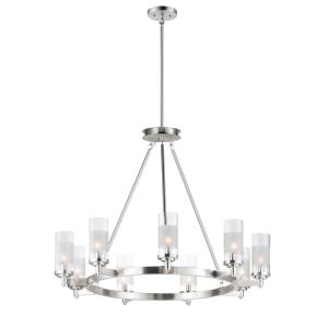 Crescendo-9 Light Chandelier-35 Inches wide by 26 inches high