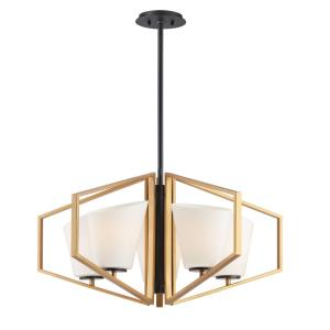 Oblique-5 Light Chandelier-30.25 Inches wide by 15.25 inches high