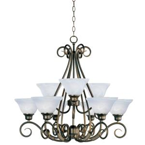 Pacific - Nine Light 2-Tier Chandelier