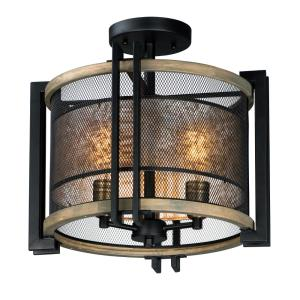 Boundry - Three Light Flush Mount