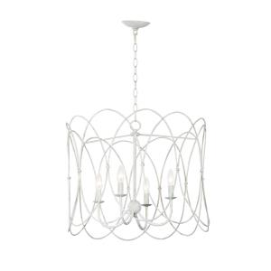 Trellis-4 Light Chandelier-19.25 Inches wide by 18.25 inches high