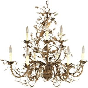 Elegante - 9 Light 2-Tier Chandelier