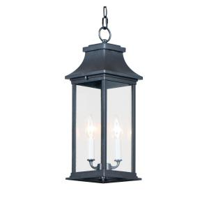 Vicksburg - 2 Light Outdoor Hanging Lantern in Modern style - 6.75 Inches wide by 18.5 inches high