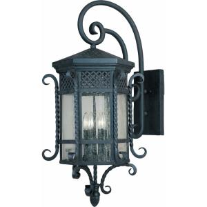 Scottsdale-5 Light Outdoor Wall Lantern in Mediterranean style-17 Inches wide by 34 inches high