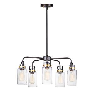 Magnolia-5 Light Pendant-26 Inches wide by 13 inches high