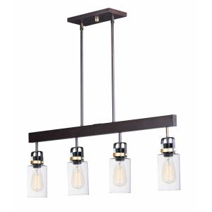 Magnolia - 4 Light Linear Pendant