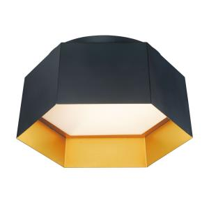 Honeycomb-15W 1 LED Flush Mount-16 Inches wide by 7 inches high