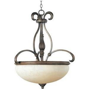 Hyde Park-3 Light Pendant in Early American style-22 Inches wide by 29 inches high